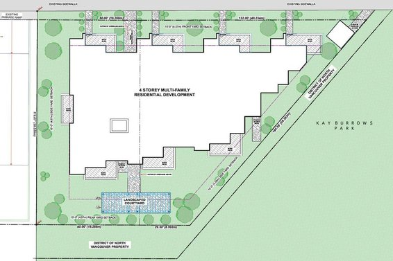Site Plan - 1149 and 1155 Lynn Valley Road