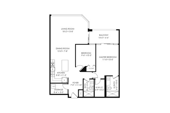 Floorplan - 904-1327 East Keith Road, North Vancouver