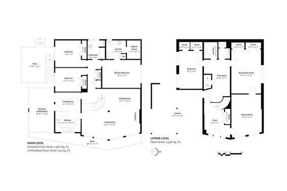 All floor plans - 4775 Tourney Road, North Vancouver
