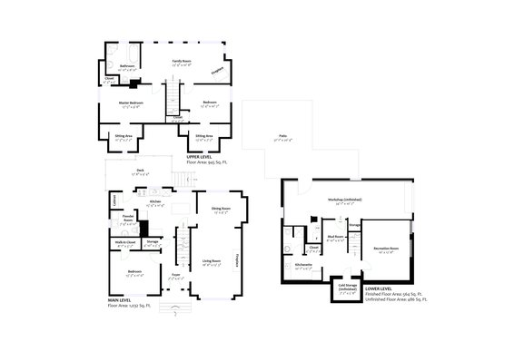 Floorplan  - 1357 Moody Avenue, North Vancouver