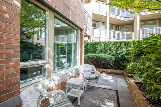 Back of unit - 127-119 West 22nd Street, North Vancouver