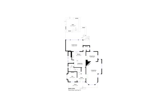 Main floor plan - 3096 Fromme Road, North Vancouver