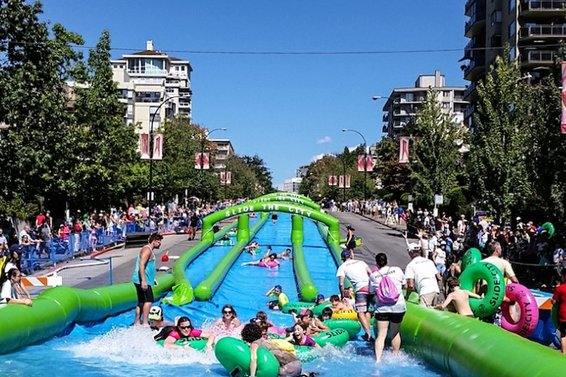 Slide the City extended to a 2 day event for 2016