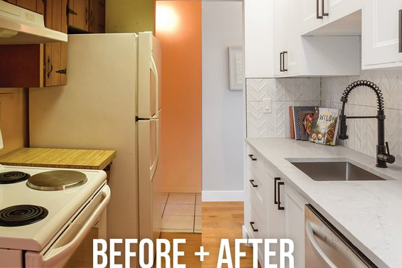 Before & After at 208-341 W 3rd St