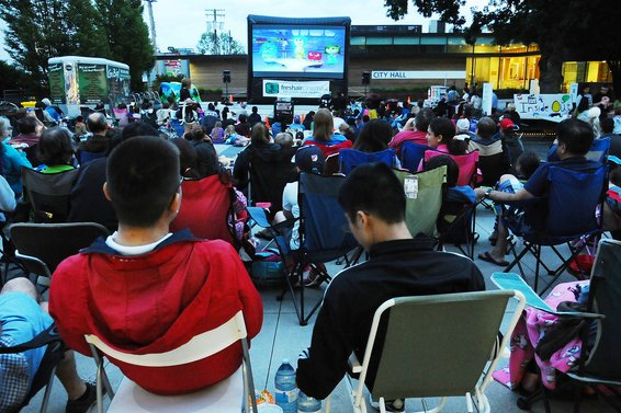 Family Movie Nights in the City Plaza