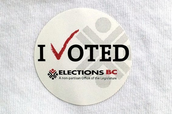 BC Election Day - Vote
