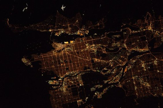 Vancouver. At Night. From Space!